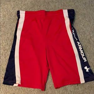 Youth Large Under Armour Red Athletic Shorts